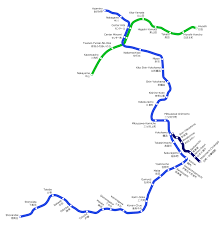 Blue Line Metro Map by Yokohama Municipal Subway Rapid Transit Wiki Fandom Powered By