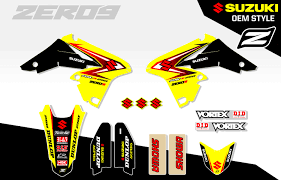 suzuki rmz 250 2010 2015 mx motocross graphics decal kit u2013 oem