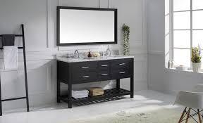 virtu 60 inch caroline estate bathroom vanity espresso