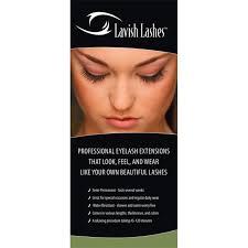 professional eyelash extension lavish lashes tri fold brochures 50 count mmf01 50 eyelash