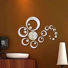 diy 3d modern mirror wall clock watches sticker decal home decor