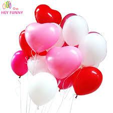 heart balloons 20pcs lot 10 inch heart balloons 4 colors birthday wedding