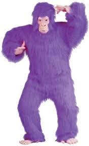 Gorilla Halloween Costumes Purple Gorilla Suit Costume 149 99 Gorilla Costumes