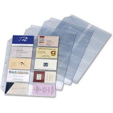 cardinal business card refill pages holds 200 cards clear 20