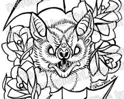 tattoo coloring book etsy