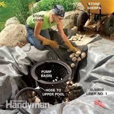 How To Build A Backyard Pool by Build A Backyard Waterfall And Stream Family Handyman
