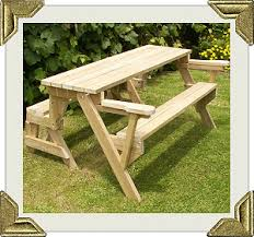 Plans For Building A Heavy Duty Picnic Table by Folding Bench To Picnic Table Instructions Page 1