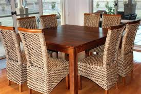 Cappuccino Dining Room Furniture 8 Seater Oak Dining Table Dining Table 8 Chairs White 9pc