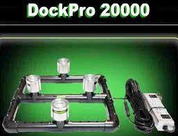 underwater led dock lights alumiglo dockpro 20000 120 vac greem submersible underwater led