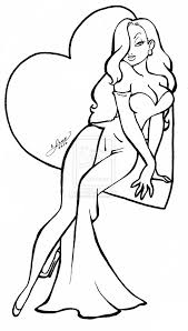 jessica rabbit coloring pages love jessica rabbit
