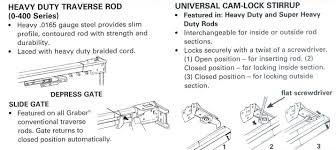Traverse Curtain Rods With Cord Heavy Duty Traverse Rod Interiordecorating
