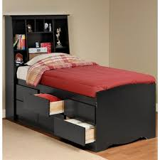 Twin Bed With Storage And Bookcase Headboard by Sonoma Black Tall Twin Storage Bed And Headboard At Www