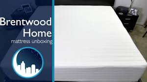 brentwood home mattress unboxing youtube