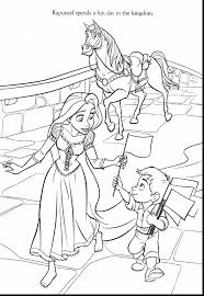 awesome flynn rider printable coloring pages with rapunzel