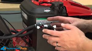 how to replace the battery on a troy bilt tb280es lawn mower part