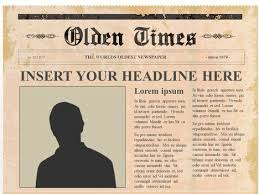 news report template olden times newspaper template fitfloptw info