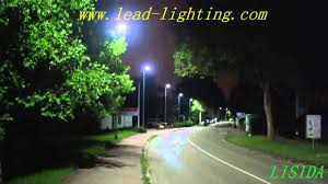 Solar Panel For Street Light by Led Street Light With Solar Panel And Led Road Lamp Youtube