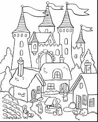 Beautiful Flower Garden Coloring Pages With Castle Coloring Page Coloring Pages Castles
