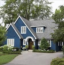 marine blue house and cream trim and black windows google search