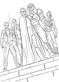 evil magneto team coloring pages men coloring pages