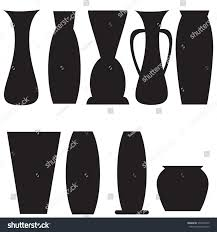 vase set pottery vases flower home stock vector 370438739