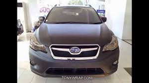 2017 subaru crosstrek black matt black subaru xv wrap by tony wrap www tonywrap com youtube