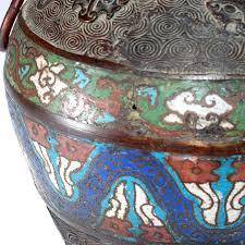 Enamel Vase Antique Bronze Chinese Zodiac Champleve Enamel Vase Collect Sell Com