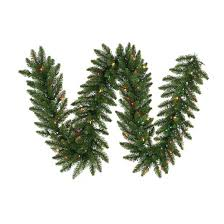 9 ft pre lit pine garland with multicolored lights target