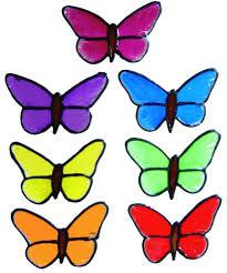 peelable window decoration set of small butterflies
