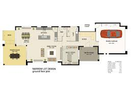 Floor Plans For Narrow Lots by Narrow Lot Floor Plans Pleasant 10 Narrow Lot Luxury House Plans
