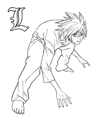 online for kid death note coloring pages 91 on line drawings with