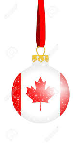 Flag Of Canada Christmas Ball In The Colors Of The Flag Of Canada With Glittering