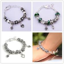 charm bracelet clasps images European style 925 sterling silver plated heart clasp bead charm jpg