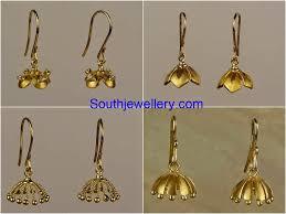 3 gram gold earrings 2 to 3 grams baby jhumkas jewellery designs