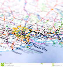 Map Of Houston Texas Map Of Houston City Stock Photo Image 42374203