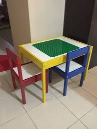 duplo table with chairs duplo table ikea latt kids table hack playroom ideas
