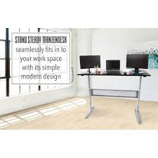 Stand To Sit Desk by Tranzendesk Standing Desk 55 Inch Full Size Standing Desk