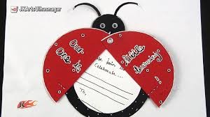 diy ladybug inexpensive birthday invitations card idea how to