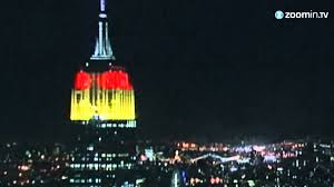 History Of The German Flag Empire State Building Lit Up In German Flag Colours Youtube