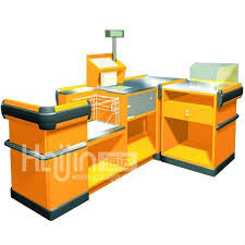 Supermarket Cash Desk Fashion Design Checkout Counter Cash Desk Cashier Counter Hj