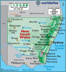 map of new south wales new south wales map geography of new south wales map of new
