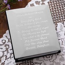 engraved wedding album our wedding invitation engraved photo album findgift