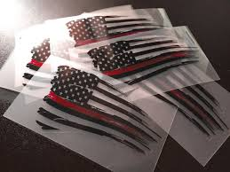 jeep american flag decal thin red line u2013 set of 2 distressed american flag decals seven