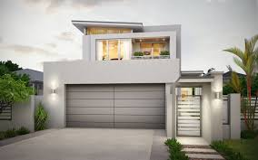 narrow lot 2 storey home design modern skillion roof and the