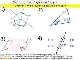 The Sum Of Interior Angles Sum Of Interior Angles Interior Angles And Exterior Angles By