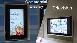 interstones news commercial display vs tv