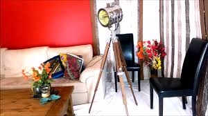 Nautical Spotlight Floor Lamp by Callista Vintage Spotlight Studio Cinema Tripod Floor Lamp Youtube
