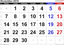 2016 calendar with holidays usa