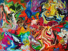 Color Painting by Full Color Abstract Art Painting Creative Acrylic Painting