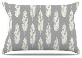 amanda feathers gray gray pattern pillow